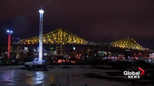 Jacques-Cartier Bridge lights up for test run