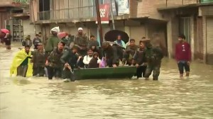 Army rescues people stranded by heavy floods in Kashmir