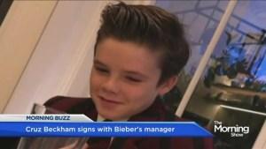 Cruz Beckham signs with Bieber's manager