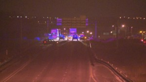 Fatal crash closes eastbound Highway 403 in Burlington