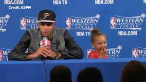 Stephen Curry's daughter once again steals the show at post-game presser