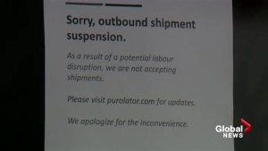Purolator customers caught off guard by company decision to no longer accepting packages for shipment across Canada ahead of potential strike