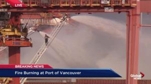 Wind conditions not expected to change and spread smoke further from Port of Vancouver fire