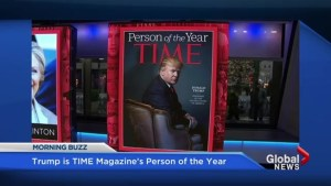Donald Trump is named TIME magazine's Person of the Year