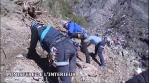 Raw Video: Search team begins sifting through Germanwings debris