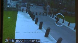 Security camera footage of Parliament Hill shooter from multiple angles