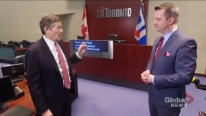 John Tory hopes honesty on road toll, transit plans will define his administration