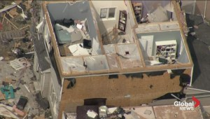 Incredible aerial view of damage from Angus tornado