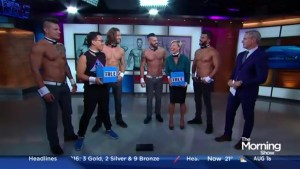 The Chippendales tear their shirts off for TMS