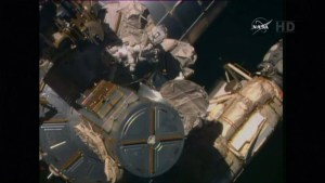 Astronauts attempt to complete tricky cable job on ISS spacewalk