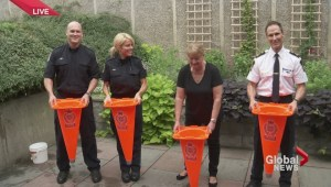 Transit police take ALS Ice Bucket challenge