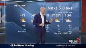Global News Morning weather forecast: Friday, February 10