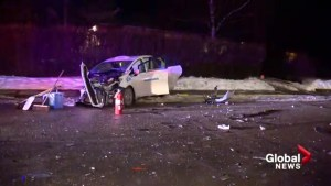 Two injured after Northmount car crash