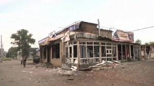 Raw video: Streets of Slovyansk devastated as fighting resumes in Ukraine's east
