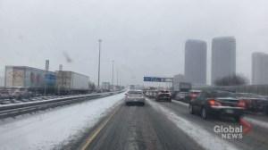 Timelapse of snowy commute in the GTA