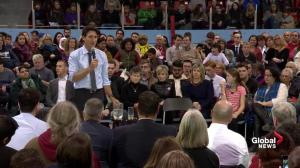 Justin Trudeau on the support of military veterans, first responders