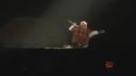 Justin Bieber falls through stage during concert in Saskatoon