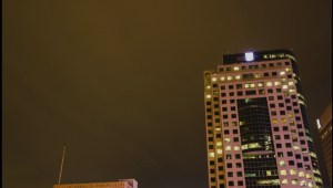 Timelapse video shows storm lighting up sky in downtown Winnipeg