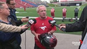 New Calgary Stampeders helmet explained