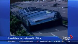 'Straddling' bus released in China