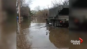 Videos show extent of flood waters in Quebec
