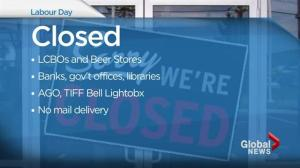 What's open and closed on Labour Day