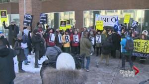 Rally in Montreal for Raif Badawi