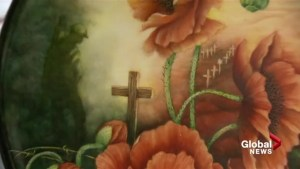 Calgary artist commemorates Vimy Ridge battle with porcelain painting