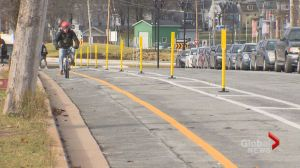 Move over motorists, Halifax gets first protected bike lane