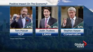 NDP most likely party to save economy: poll