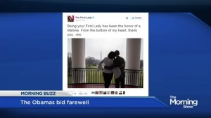 The Obama's bid farewell to the White House