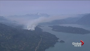 Harrison Lake wildfire grows