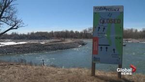Work progressing on the Bow River's Harvie Passage post-flood