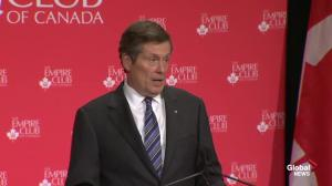 Mayor Tory: I did not get elected to make congestion worse in Toronto