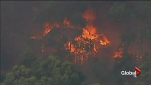 Lightning strike ignites apocalyptic fire across Australia