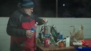 Edmonton father faces freezing cold to honour his daughter's life
