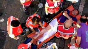 Ten tourists injured during running of the bulls in Spain