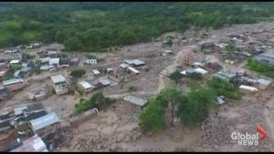 Aftermath of Colombia landslide which killed over 100 people