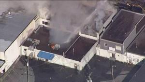 AERIALS: Fire in Port Coquitlam
