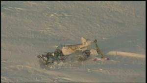 Global's SkyView1 flew over the plane crash near Brunkild, Manitoba