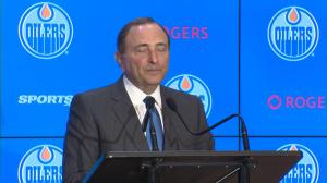 Gary Bettman speaks about Rogers Place's economic impact on Edmonton