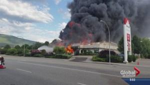 Blaze destroys Vernon Employment and Assistance Office