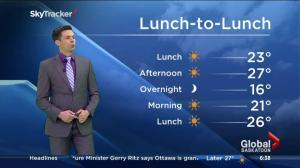 Saskatoon weather outlook – July 24