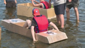 WEB ONLY: Cardboard boats