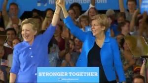 Trump outlines economic vision, Clinton teams up with Massachusetts Senator