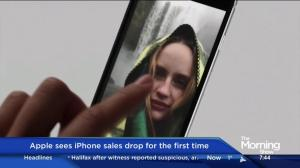 Apple sees iPhone sales drop for the 1st time