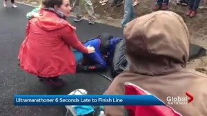 Ultramarthoner was 6 seconds late to finish line