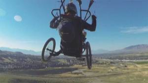 'My disability disappeared' says determined paraplegic who learned to fly again