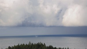 Viewer video of Nanaimo water spout