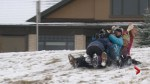 Calgarians deal with wintery Thanksgiving